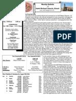 St. Michael's August 19, 2012 Bulletin