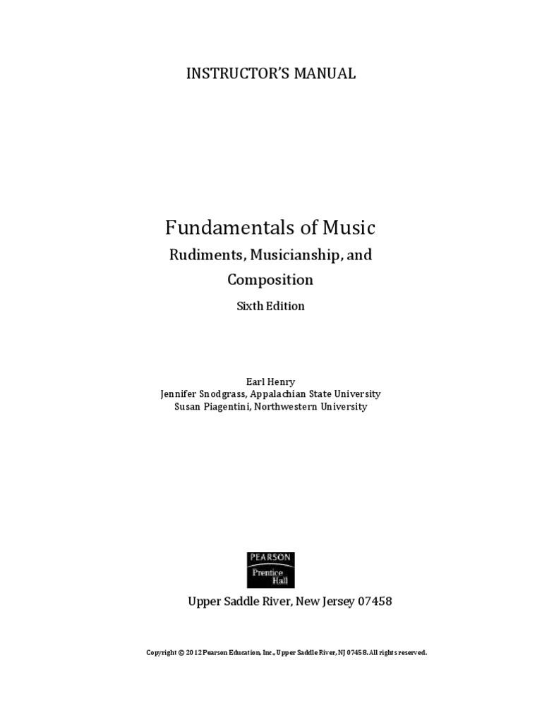 Fundamental of Music 6 ed  | Minor Scale | Chord (Music)