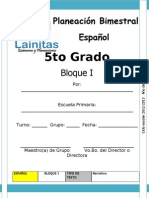 5to Grado - Bloque 1 - Español