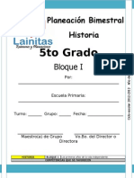 5to Grado - Bloque 1 - Historia