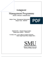 51 51 Smu Mba Assignments Mb0047 Management Information Systems