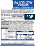 Bluefield Blue Jays Game Notes 8-26