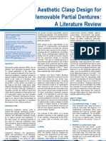 Aesthetic Clasp Design for Removable Partial Dentures a Litewrature Review