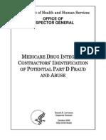 Inspector Generals Report on Medicare Prescription Fraud