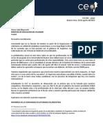 Carta al Ministerio de Educación del Ecuador - GRUPAL