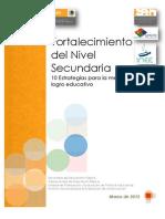 Fortalecimiento Del Nivel Secundaria - 10 Estrategias Para El Logro Educativo