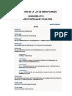 REGLAMENTO DE LA LEY DE SIMPLIFICACIÓN ADMINISTRATIVA