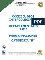 Programaciones Deportes de Conjunto Jdein Deptal b 2.012