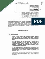 Pl01426160812 Prohibicion de Reeleccion Inmediata a Los Presidentes y Vicepresidentes Regionales y Alcaldes