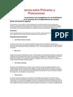 Diferencia entre Próceres y Precursores