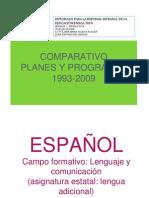 Cuadrocomparativo Plan 93 y 2009