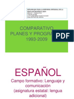 Cuadrocomparativo Plan 93 y 2009