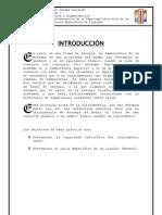 """Informe N° 8 """"Determinación de la Capacidad Calorífica de un Calorímetro y Calores Específicos de Líquidos"""""""