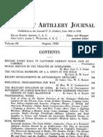 Coast Artillery Journal - Aug 1928