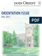 The Bowdoin Orient - Vol. 142, No. 0 - August 27, 2012
