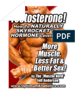 Natural Testosterone Enhancement; By Jeff Anderson