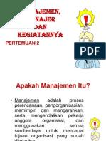 Manajemen Manager Dan Kegiatannya