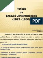 Período de Ensayos Constitucionales (1823-1830)