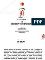El Servicio de Medicina Transfusional Del H.P.G.D.R