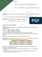 Ejercicios Álgebra de matrices