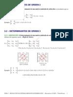 Teoria  Resolución de sistemas mediante determinantes