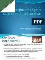 Desinfeccion Solar en El Agua Del Rio Tomebamba