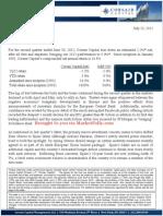 Corsair Capital 2Q2012 Letter
