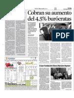 Cobran Su Aumento Del 4.5% Burocratas del Gob.Edo.