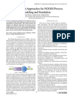 Two Different Approaches for NGOSS Process Modeling and Simulation
