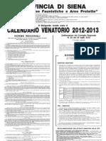 Manifesto CACCIA 2012-2013