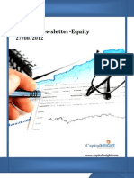 Weekly Equity Newsletter 27-08-2012