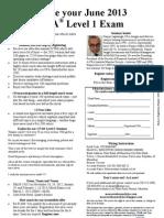 June 2013 CFA L1 MRU Reg Form Nov-Mar