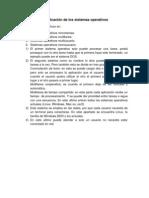 TAREA  Clasificación de los sistemas operativos