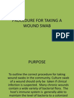 Procedure for Taking a Wound Swab
