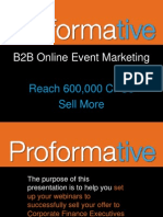Webinar - B2B Online Event Marketing - Reach CFOs, Sell More