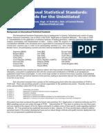 International Statistical Standards