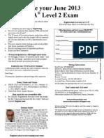 June 2013 CFA L2 MRU Reg Form Nov-Mar