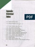 Statistical Tables (Ronald e. Walpole)