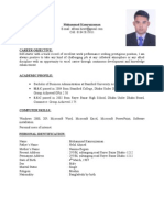Mohammad Kamruzzaman CV With