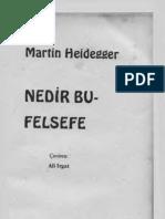 Heidegger - Nedir Bu Felsefe