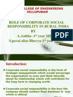 Role of Corporate Socail Responsibility in Rural India by s.pavai & a.anitha