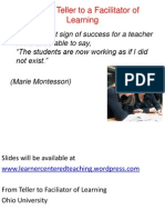 From Teller to Facilitator of Learning Ohio University