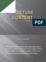 moisture content