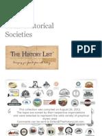 Logos of 50 Local Historical Societies