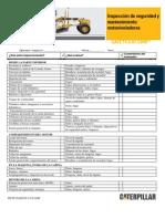 Inspección de seguridad de motoniveladoras