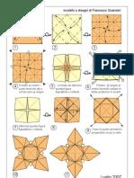 Orgami Estrella 4 Picos 3D