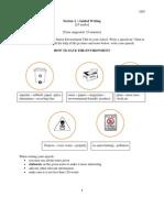 Percubaan PMR  SBP 2012 - Bahasa Inggeris Kertas 2