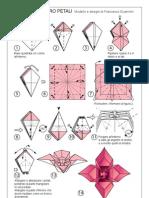 Origami - Flor 3D 4 Petalos