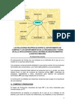 RELACIONES RECIPROCAS ENTRE COMPRAS Y LOS DEPTOS DE LA ORGANIZACIÓN