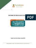 Resultados III Encuentro de Negocios en la Cadena del Reciclaje - 2012